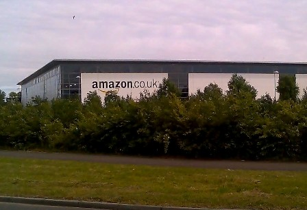 Amazon warehouse in Glenrothes, UK