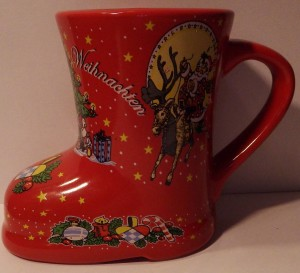 CHRISTMAS BOOT SHAPED MUG from Christmas past
