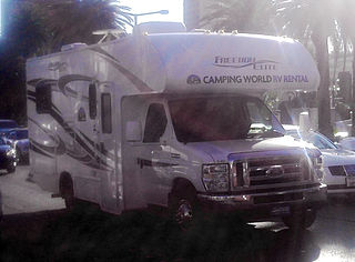 Ford E-Series RV photographed in Las Vegas, Nevada, USA. Photo courtesy of Bull-Doser
